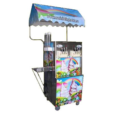 Maşină de îngheţată RAINBOW ICE, 6 capete, 6.0kw, alimentare 380V, 4cuve