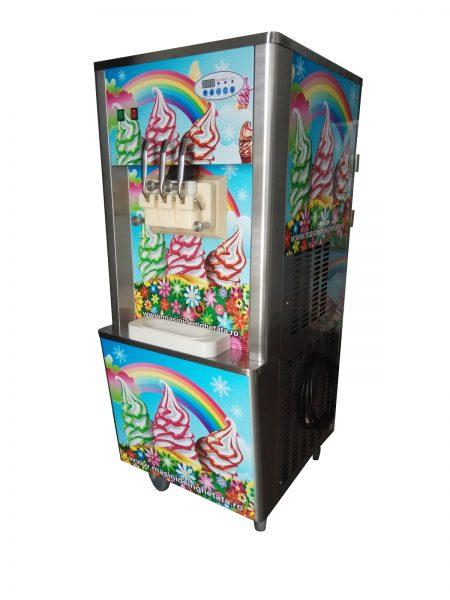 Maşină de îngheţată RAINBOW ICE, 3 capete, 3.6kw, cuve 22L