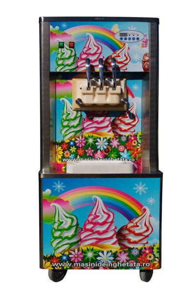 Maşină de îngheţată RAINBOW ICE, 3 capete, 3.6kw, cuve 22L, SECOND-HAND